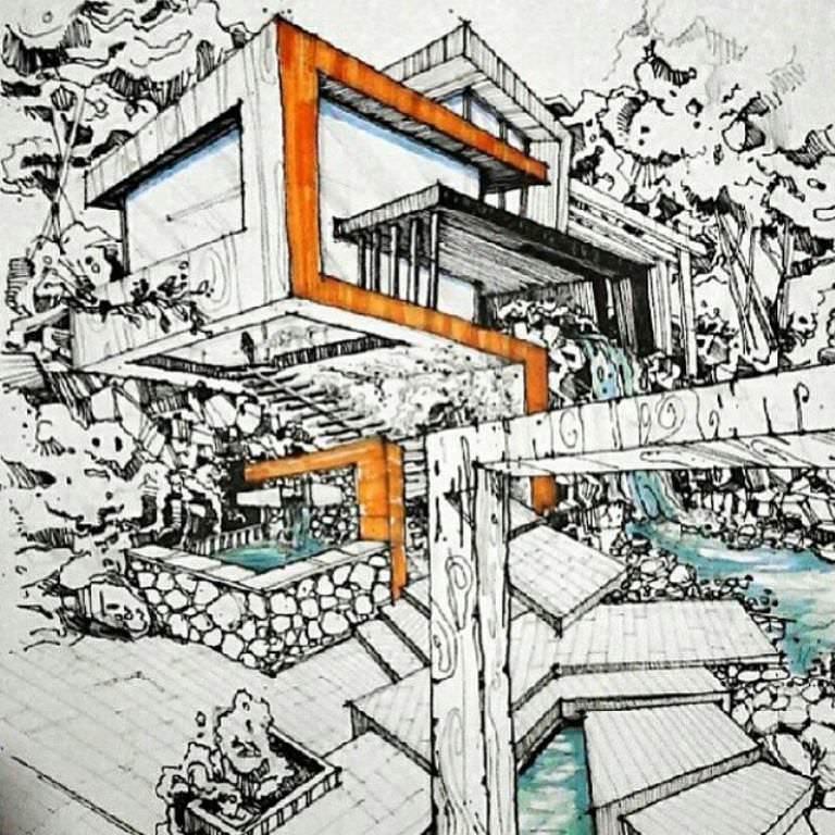 475建築設計師手稿作品