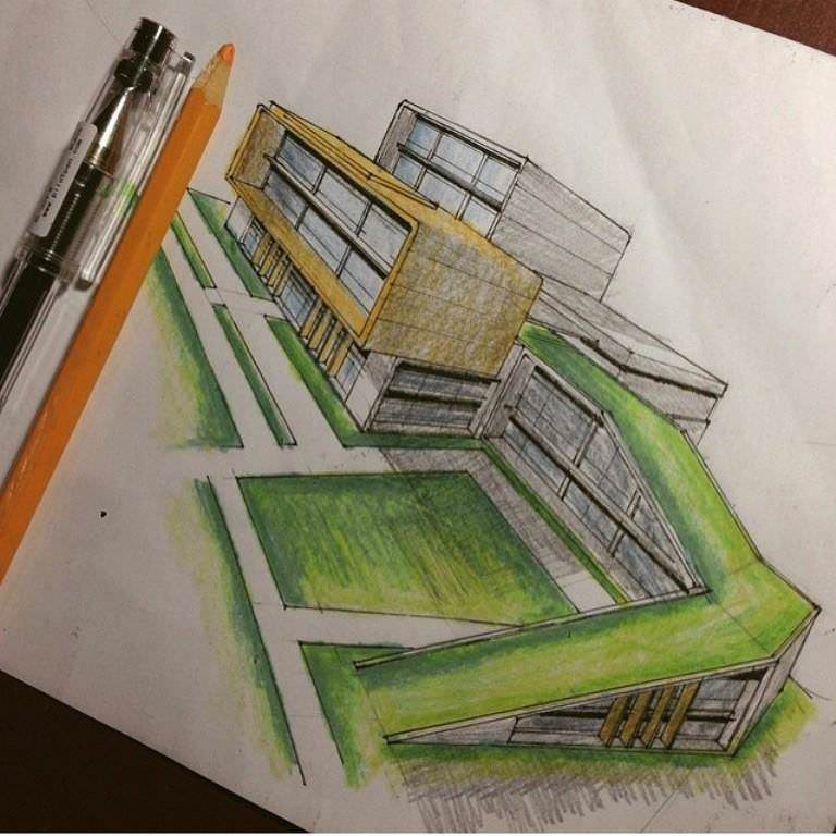 477建築設計師手稿作品