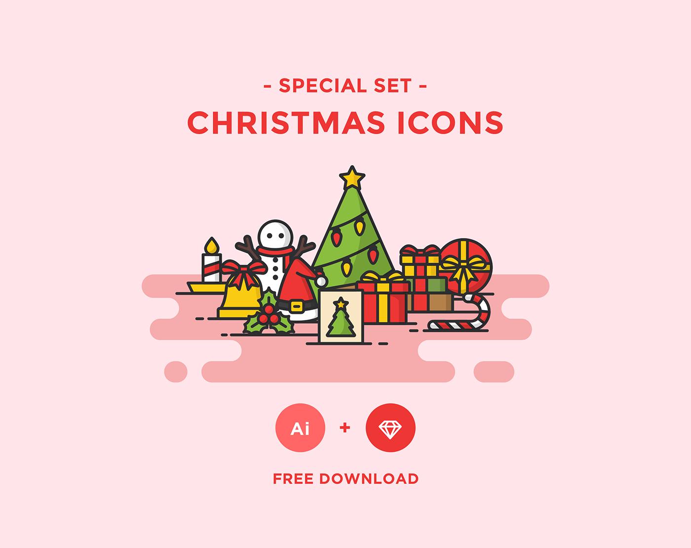免費聖誕節icon素材