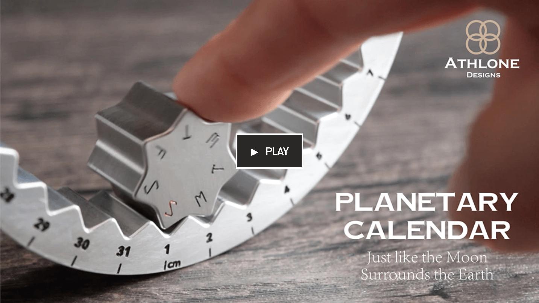 鈦金屬萬年曆齒輪造型