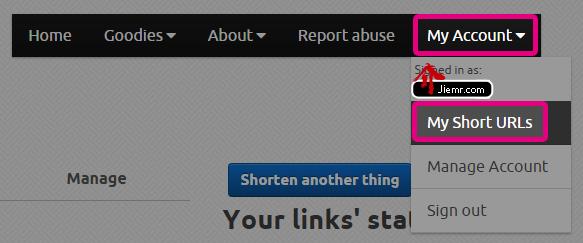 登入帳號修改短網址