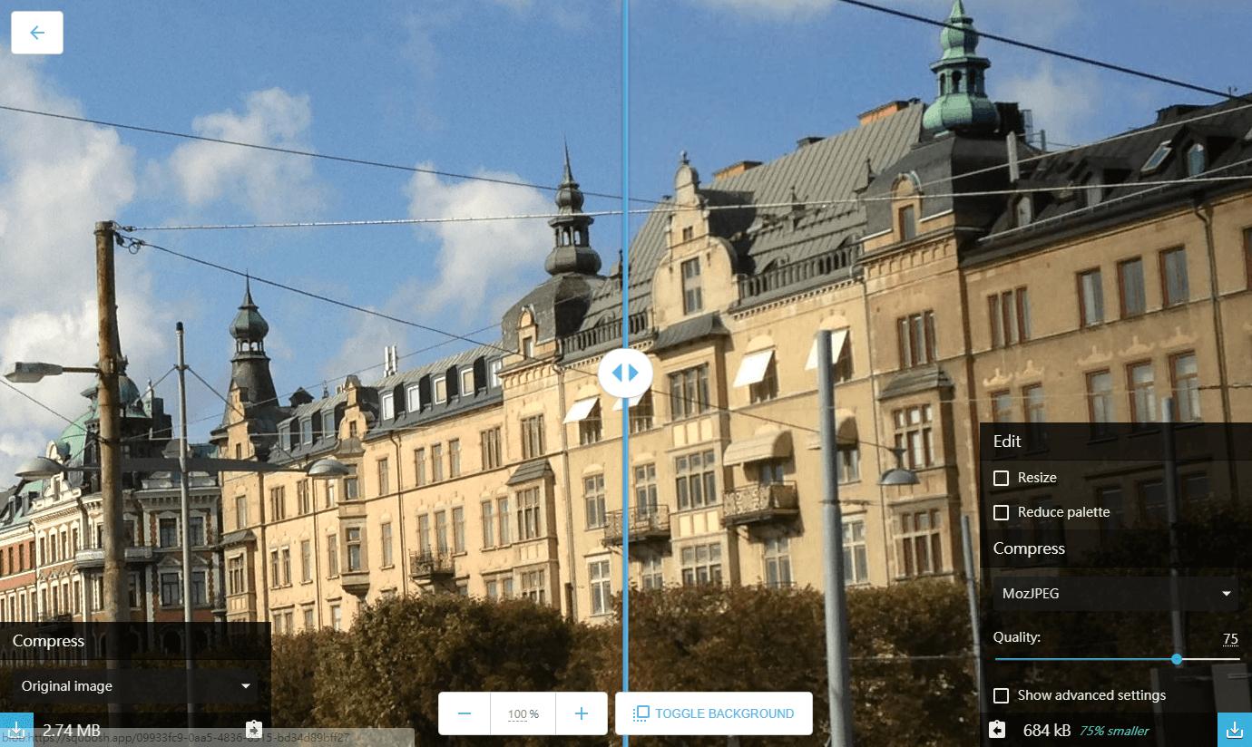 不失真在线图片压缩工具Squoosh 又是Google 的黑科技