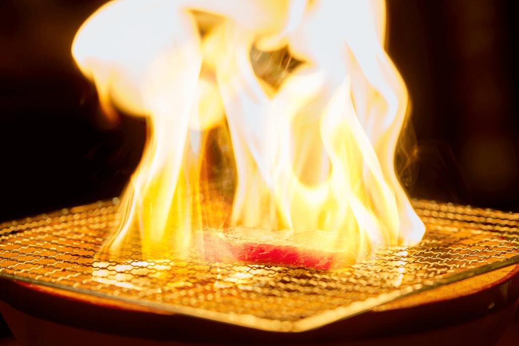 火烤牛肉片素材