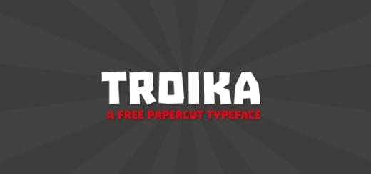 免費字體 TROIKA